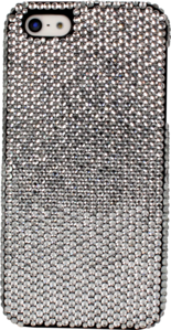 Case for Apple iPhone 5, White Swarovski Crystals by The Kase Collection