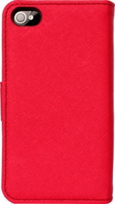 Flip case for Apple iPhone 4/4S with Mirror, Red by The Kase Collection