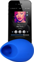 Egg Sound amplifier for Apple iPhone 5/5S/5C, Blue by The Kase Collection