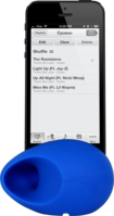 Egg Sound amplifier for Apple iPhone 4/4S, Blue by The Kase Collection