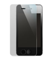 Tempered Glass Screen Protector for Apple iPhone 4/4S, Transparent by The Kase Collection