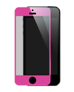 Tempered Glass Screen Protector for Apple iPhone 5/5S/5C, Pink by The Kase Collection