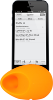 Egg Sound Amplifier for Apple iPhone 6 (4.7 inch), Orange by The Kase Collection