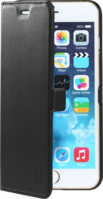 Book-type Magnetic flip case with credit card slot for Apple iPhone 6 Plus, Black by The Kase Collection