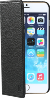Book Type Flip case with credit card slots for Apple iPhone 6 Plus, Shrunken Black leather by The Kase Collection