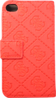 Guess Scarlett Book type Flip case for Apple iPhone 4/4s, Red by Guess