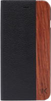 Flip case for Apple iPhone 6 (4.7 inch), Rose wood & Black lychee faux leather by The Kase Collection