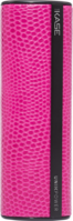 Fashionista Power Bank, 2600 mAh, Lizard Pink by The Kase Collection